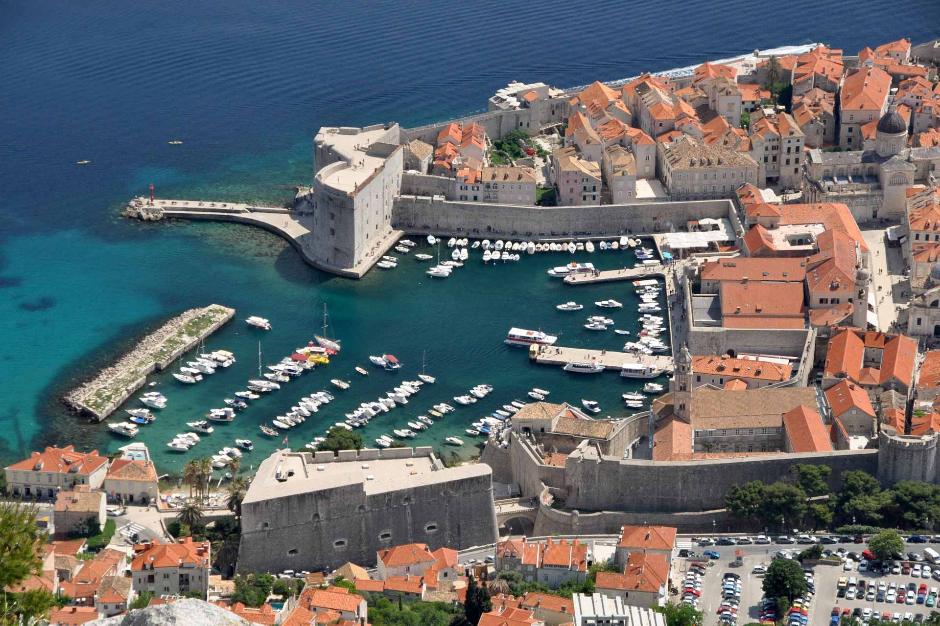 Aerial photo of Dubrovnik