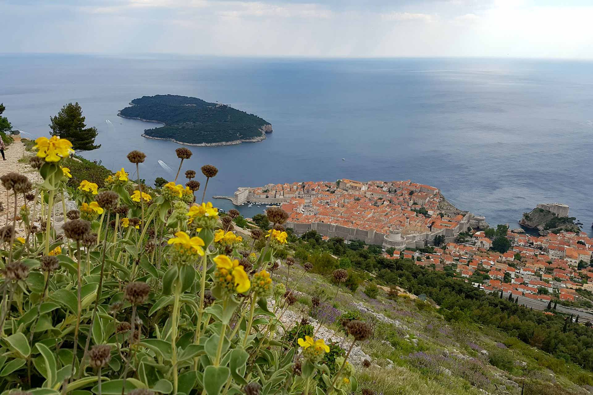 Panoramic view of Dubrovnik area